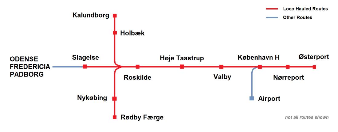 DSB LHCS Routes